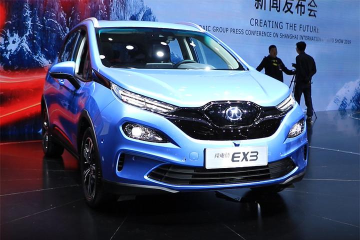 2019上海国际车展:同级尾款续航超501km量产车型!北汽新能源EX3亮点近不止于此