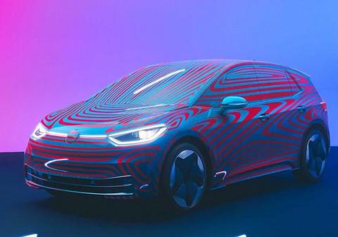大众发布全新纯电车型ID.3预告图 2020年中开始交付