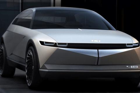现代新纯电跨界车曝光 造型科幻/年产能达7万台