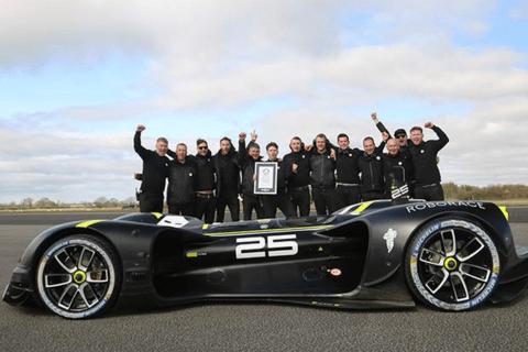 最高时速282km/h 英国Robocar刷新自动驾驶汽车最高车速记录