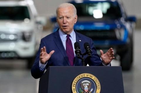 """拜登推出1740亿美元电动汽车计划 并放狠话""""电动汽车,中国赢不了"""""""