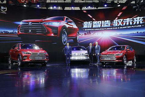 视频|北京车展比亚迪4款新能源亮相 最低不到10万起售